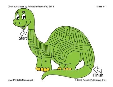 Dinosaur worksheets pdf