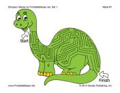 Dinosaur Mazes Set 1