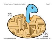 Dinosaur Mazes Set 4